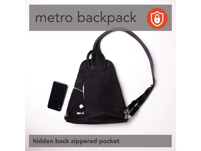 baggallini Metro Backpack with RFID Phone Wristlet - image 4 from the video