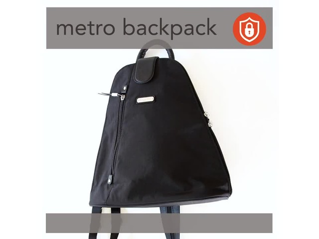 baggallini Metro Backpack with RFID Phone Wristlet - image 5 from the video