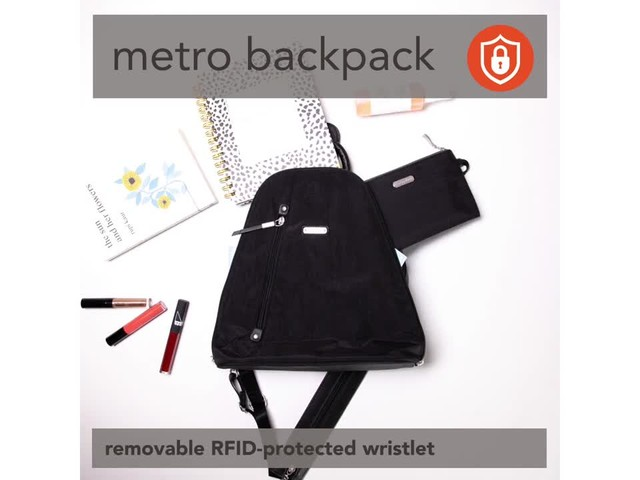 baggallini Metro Backpack with RFID Phone Wristlet - image 8 from the video