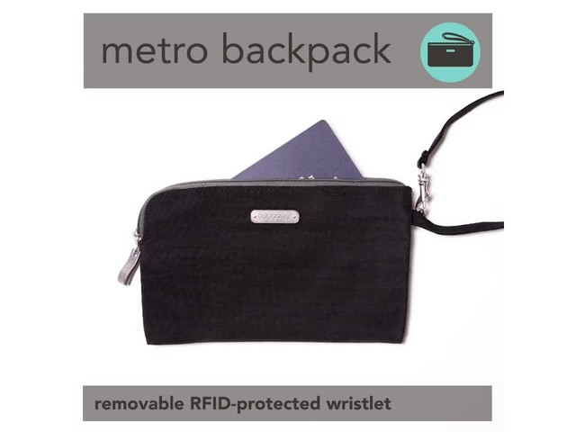 baggallini Metro Backpack with RFID Phone Wristlet - image 9 from the video