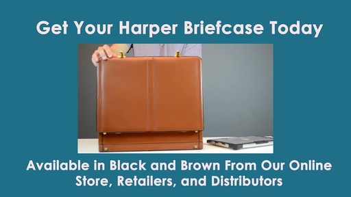 McKlein USA Harper Leather Expandable Attache Case - image 10 from the video