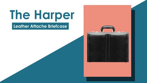 McKlein USA Harper Leather Expandable Attache Case - image 2 from the video