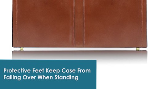 McKlein USA Harper Leather Expandable Attache Case - image 7 from the video