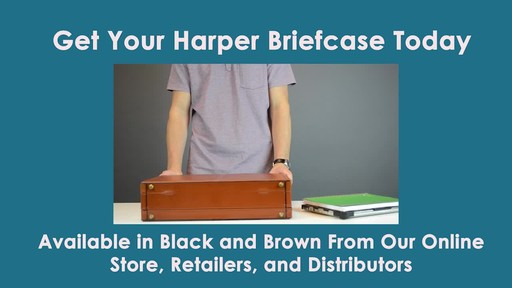 McKlein USA Harper Leather Expandable Attache Case - image 9 from the video