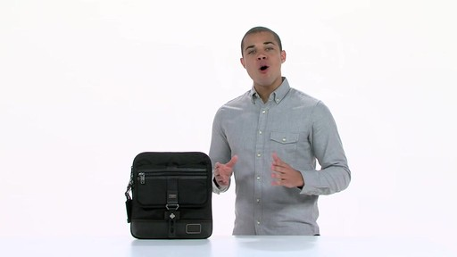 Tumi Alpha Bravo Annapolis Zip Flap - image 3 from the video