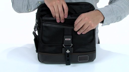 Tumi Alpha Bravo Annapolis Zip Flap - image 4 from the video