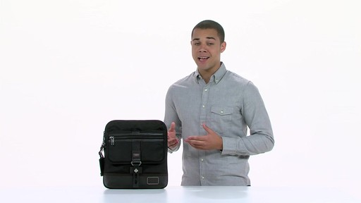 Tumi Alpha Bravo Annapolis Zip Flap - image 5 from the video