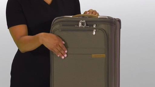 Briggs & Riley Baseline Domestic Carry-On Upright Garment Bag - image 2 from the video
