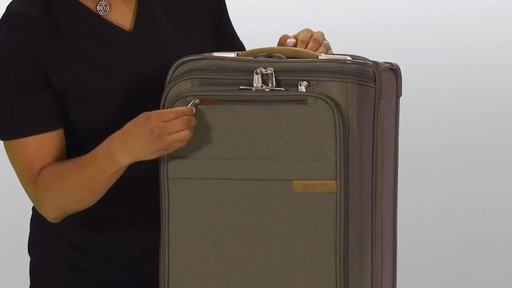 Briggs & Riley Baseline Domestic Carry-On Upright Garment Bag - image 3 from the video