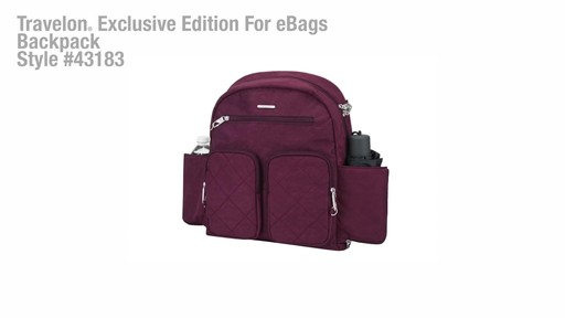Travelon Anti-Theft Small Backpack - Exclusive - on eBags.com - image 1 from the video