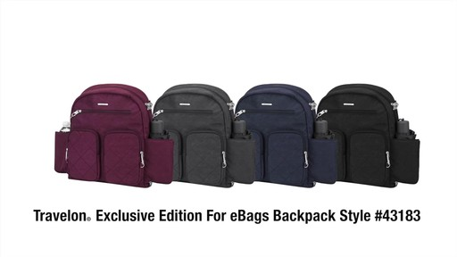 Travelon Anti-Theft Small Backpack - Exclusive - on eBags.com - image 10 from the video