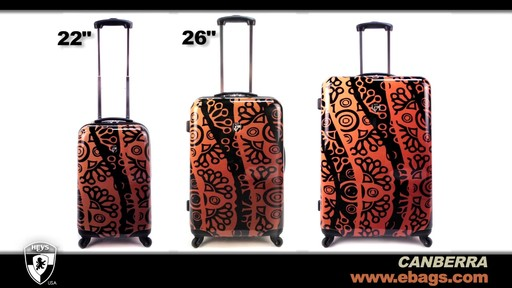 Heys USA Canberra 3 Piece Hardside Spinner Luggage Set  - image 8 from the video