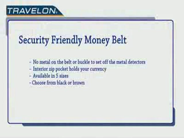 Travelon: Security-Friendly Money Belt - image 10 from the video