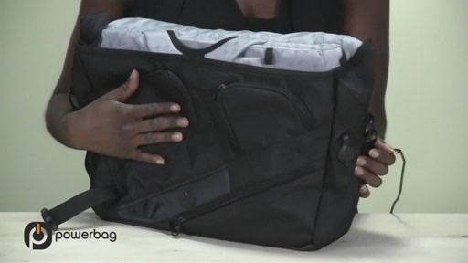 Powerbag by ful 3000 mAH Laptop Messenger Bag - image 6 from the video