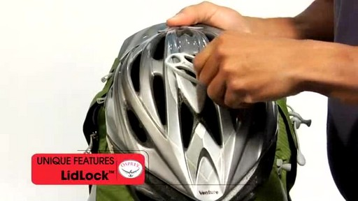 Osprey LidLock Helmet Attachment - image 6 from the video