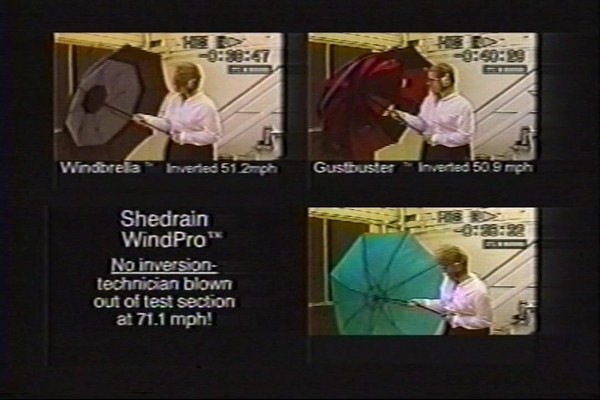 ShedRain - Competitive Analysis of Windproof Umbrellas - image 5 from the video