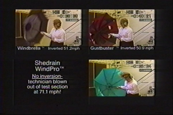 ShedRain - Competitive Analysis of Windproof Umbrellas - image 6 from the video