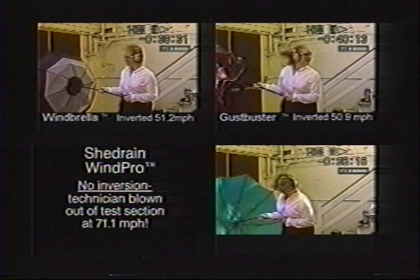 ShedRain - Competitive Analysis of Windproof Umbrellas - image 7 from the video