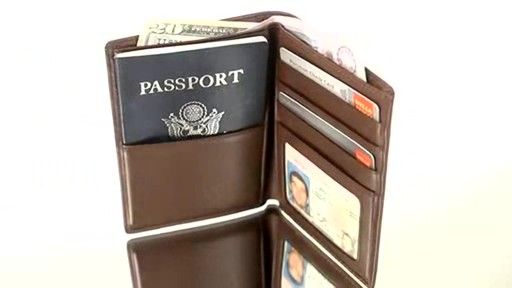 Royce Leather RFID Blocking Passport Currency Wallet  - image 2 from the video