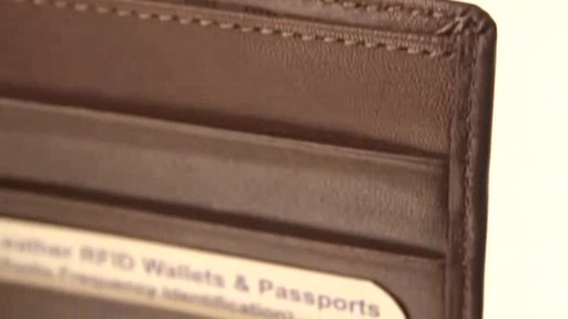 Royce Leather RFID Blocking Passport Currency Wallet  - image 4 from the video