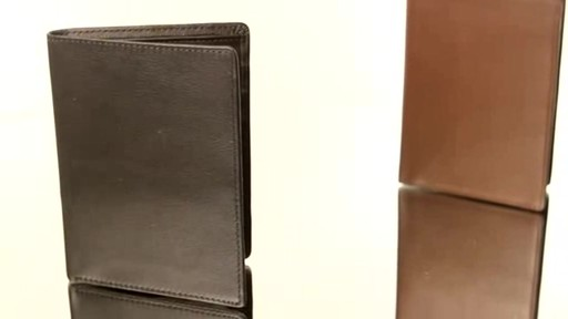Royce Leather RFID Blocking Passport Currency Wallet  - image 5 from the video