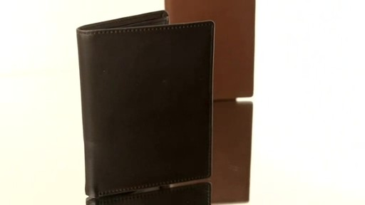 Royce Leather RFID Blocking Passport Currency Wallet  - image 6 from the video