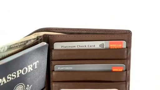 Royce Leather RFID Blocking Passport Currency Wallet  - image 7 from the video