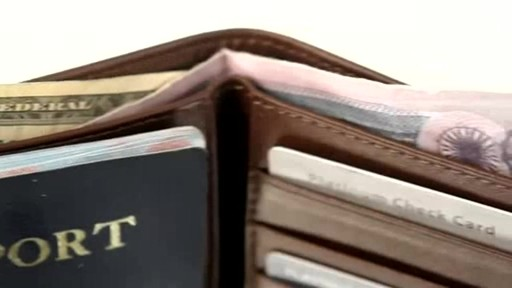 Royce Leather RFID Blocking Passport Currency Wallet  - image 8 from the video