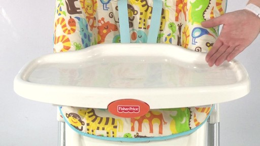 Fisher Price EZ clean Highchair - Kiddicare - image 3 from the video