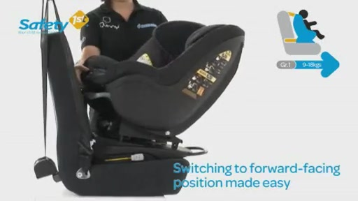 Dorel Safety 1st PrimeoFix Car Seat - Kiddicare - image 5 from the video