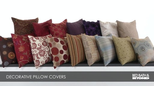 Decorative Pillow Covers Bed Bath Beyond : Decorative Pillow Covers Bed Bath & Beyond Video CA