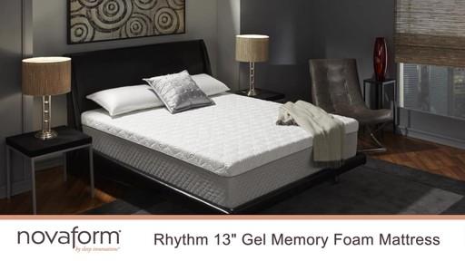 Rhythm Gel Memory Foam Mattress Novaform Furniture