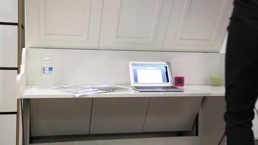 Lit escamotable allegra avec bureau welcome to costco for Armoire lit bureau escamotable