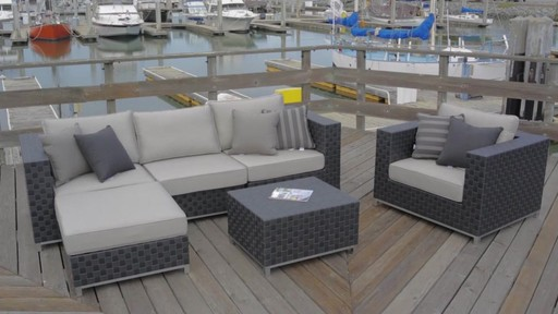 Sirio™ Soho 6 Piece Deep Seating Sofa Set   Image 10 From The Video