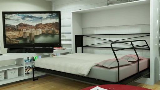 lit avec tv escamotable maison design. Black Bedroom Furniture Sets. Home Design Ideas