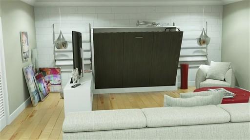lit escamotable avant garde avec meuble pour téléviseur » welcome ... - Meuble Living Design