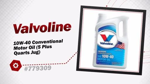 Valvoline 10w 40 conventional motor oil 5 plus quarts jug for Advance auto parts motor oil
