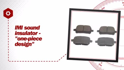 Wagner ThermoQuiet Ceramic Brake Pads - Front (4-Pad Set) QC707 - image 6 from the video