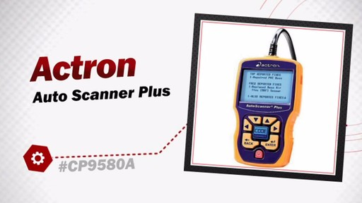 Actron Auto Scanner Plus CP9580A - image 3 from the video
