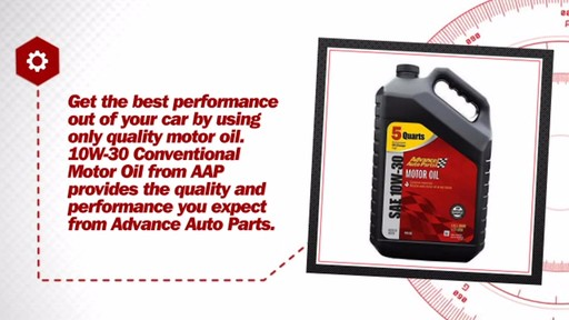 Advance Auto Parts 10W-30 Conventional Motor Oil (5 Plus Quarts Jug) A26 - image 6 from the video