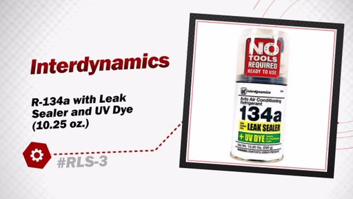 Interdynamics R-134a with Leak Sealer and UV Dye (10.25 oz.) RLS-3 - image 3 from the video