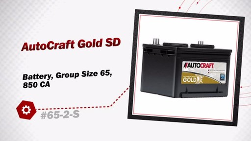 AutoCraft Gold SD Battery, Group Size 65, 850 CA 65-2-S - image 3 from the video