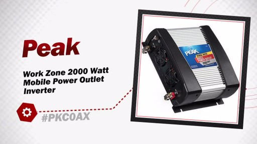 Peak Work Zone 2000 Watt Mobile Power Outlet Inverter PKC0AX - image 3 from the video