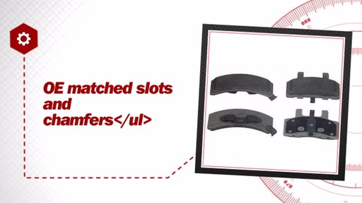 Wagner ThermoQuiet Semi-Metallic Brake Pads - Front (4-Pad Set) MX369 - image 5 from the video