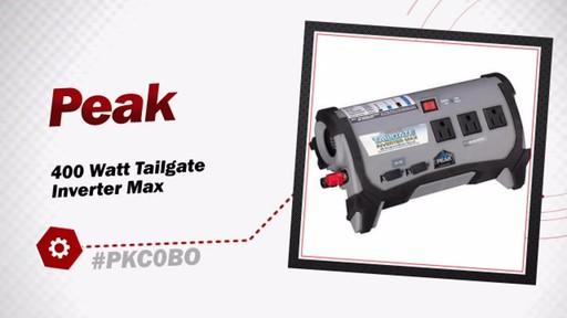 Peak 400 Watt Tailgate Inverter Max PKC0BO - image 3 from the video