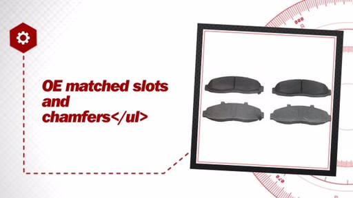 Wagner ThermoQuiet Semi-Metallic Brake Pads - Front (4-Pad Set) MX679 - image 5 from the video