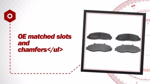 Wagner ThermoQuiet Semi-Metallic Brake Pads - Front (4-Pad Set) MX679 - image 6 from the video