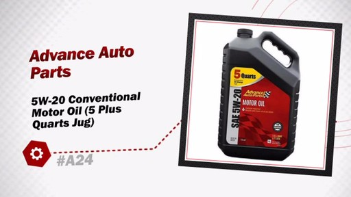 Advance Auto Parts 5W-20 Conventional Motor Oil (5 Plus Quarts Jug) A24 - image 3 from the video