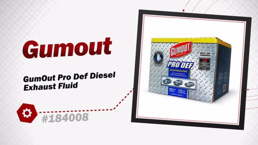 GumOut Pro Def Diesel Exhaust Fluid - image 3 from the video