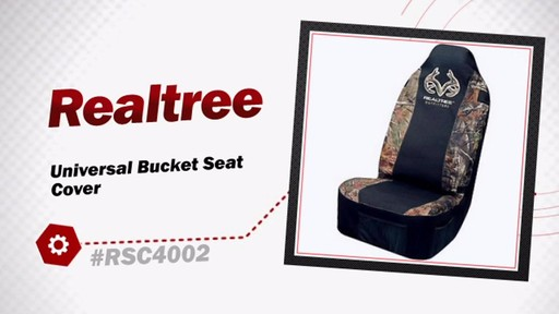 Realtree Universal Bucket Seat Cover RSC4002 - image 3 from the video